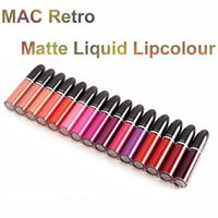 Wholesale M A C Retro Matte Liquid Lipcolour Gloss LAQUE A LEVRES Lipgloss Waterproof Lipstick Long Lasting Lip Gloss Makeup M A C Lipstick Lip Colour