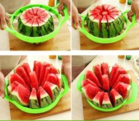 Wholesale New Arrive Watermelon Cutter Cantaloupe Melon Slicer Stainless Steel Kitchen Divider Tool Fruit Vegetable Tools