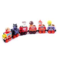 Wholesale 40 set set Bread superman wooden mini car engineering car series wooden toy train wood toys