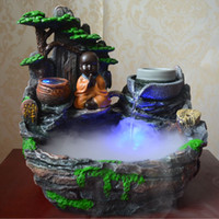 bamboo pond fountain - Creative novices novices indoor fish pond rockery water fountain humidifier bonsai feng shui ornaments Lucky Whee k lpm