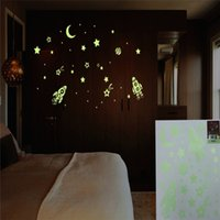 baby universe - Luminated Modern Design Star Universe Glow Removable Art Wall Stickers Kids Decal Wallpaper Overvalue Decal Baby Kids