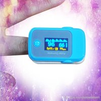 Wholesale PO10004A199 with Pulse Sound Audio Alarm OLED Fingertip oxymeter spo2 PR monitor Blood Oxygen Pulse Oximeter Freeshipping blue