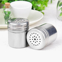 Wholesale Fashion home kitchen supplies multifunctional stainless steel spice jar container seasoning can storage bottle