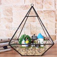 Wholesale Glass Terrarium Fairy Miniature Garden Greenhouse cm Diamond shaped