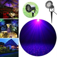 Wholesale Outdoor IP67 Red Green Laser Star Projector Light Garden Lawn Light Firefly Shower Landscape Light with Spike for Decorations