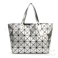 basic diamond - 4styles top quality womens ladies BAO BAO issey Totes Triangular Lattice LUCENT BASICS TOTE BAG quilted handbag shoulder bag Free ship