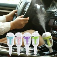 Wholesale car Plug purifier Air Cleaning Purifier Humidifier freshner fragrance Diffuser ultrasonic usb port Cooling Rotation retail box