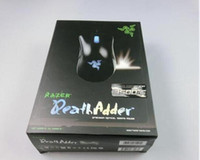 Wholesale 2016 New Razer Death Adder Mouse DPI Competitive Games Optical mouse for Game Computer Mouse With retail packing free epacket