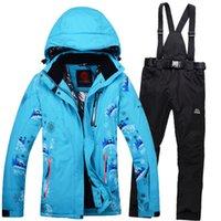 ski suit women - women ski suit winter windpproof waterproof female models veneer double board ski pants breather snowbaoding suit