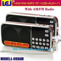 Wholesale ome Audio Video Equipments Radio L AM by Fedex DHL UPS portable mini radio AM FM support TF micro SD card and