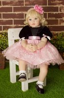 "Cheap 22"" Adora Baby Born Doll High Grade Soft Vinyl Princess Girl Doll Toy Gift Reborn Baby Dolls"