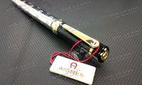 arts black metal - Aigner Pen ballpoint pen Oblique Head Series Resin And Metal Black Color Golden Silver Clip