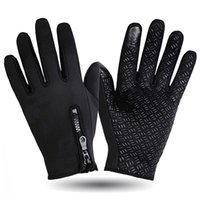 Wholesale Winter Gloves Casual Windproof Outdoor Sports Tactical Gloves Men Women Nylon Solid Touch Screen Gloves Bicycle Ski Gloves