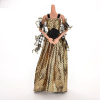 Wholesale 1 Crocodile Grain New Arrival Doll Clothes Dress For Barbie Doll With Shawl