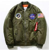 air worsted - NEW Flight Pilot Jacket Bomber Ma1 Jackets For Men Winter Jackets Nasa Air Force Jackets Embroidery Baseball Military Coats