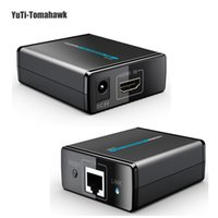 Wholesale P Network HDMI Extender Receiver Transmitter Sender Extender Over Ethernet LAN RJ45 CAT5E CAT6 For HD DVD PS3 Projector