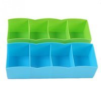Wholesale 1 New Plastic Multifunction Organizer Storage Box for Tie Underwear Socks Drawer Cosmetic Divider Colors