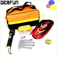 Wholesale 5Pcs Auto Roadside Emergency Tool Supplies Kit Bag Flashlight Car Breakdown Safety Equipment Survival Gear