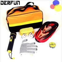 auto gear equipment - 5Pcs Auto Roadside Emergency Tool Supplies Kit Bag Flashlight Car Breakdown Safety Equipment Survival Gear