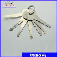 auto hot keys - 7PCS Jiggler Keys Lock Pick For Double Sided Lock Pick Tools hot sale popular in stock now