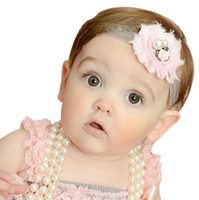 baby pearl jewelry - New Design Fashion Jewelry Children s Rose Flower Pearl Hair Bands Baby Hair Wear Head bands Two Colors
