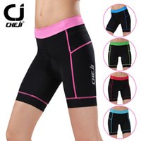 Wholesale Five Color Cheji Bicycle Shorts Ladies Bicycle Tights Outdoor Sports Women Cycling Wear