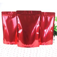 al foods - 50pcs cm cm cm Bottom mic High Quality AL Foil Red Food Plastic Packaging Stand Up Pouch