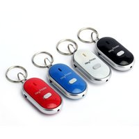 Wholesale LED Key Finder Locator Find Lost Keys Chain Keychain Whistle Sound Control with retail package