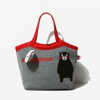 Wholesale Cute children lunch bag japanese style isothermic bags ice packs embroidery shoulder school bag boys girls waterproof