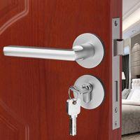 aluminium door handles - Aluminium Material Rosette Door Locks Treasure Room Interior Bedroom Door Handle Locks Wooden Bathroom Door Handle Lock Kit