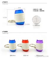 Wholesale factory selling Hot Creative mini portable keychain projection clock small alarm clock luminous electronic clock cute mute