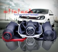 Wholesale by dhl or ems New Speed Car Gear Shift Knob Gaitor Boot PU Leather Black For VW Golf MK5 MK6
