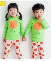 Cheap wholesale 2016 kids girls boys fruit clothes baby 2 pieces clothing toddler autumn sets children casual long sleeve tshirt pants suit