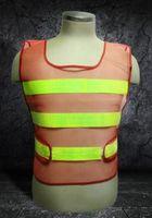 Wholesale new Hiking climbing camping reflective construction traffic overalls vest jacket uniform sanitation reflective vest road warning vest