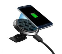Wholesale Wireless Car Charger for in car use head could be rotated degree with strong vacuum suction