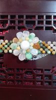 Wholesale Jadeite jade hand weaving Fancy bracelets sunflower