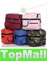 Wholesale LAI picnic lunch bag insulated cooler bag two compartments lunch box