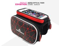 Wholesale Waterproof Bike Bicycle Ride Frame Front Tube Bags Double IPouch Cycling Pannier For inch Cell Phone Smartphone Case