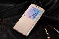 awake cover - Slim Smart Auto Sleep Awake PU Leather Flip Case Full Protection Back Cover Shell For Samsung Galaxy S6 Edge Plus G928 G928F