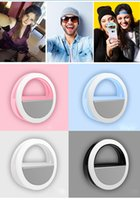Wholesale Circular Selfie Flash Clip on Soft Light Mini Cell Phone Selfie Light for Girls Night Party bg003