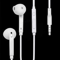 Wholesale 2016 Samsung S6 neutral headphones S6 Stereo Earphones Headset Headphone for Samsung in ear headset earphones TPE high fidelity microphone