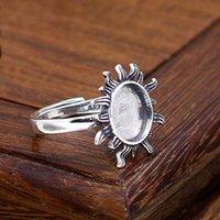 art nouveau antique - 20 or MM Round Cabochon Semi Mount Sterling Silver Ring Antique Wedding Ring Setting Art Nouveau Vintage