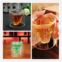 Wholesale Fedex DHL Free Newest Doomed Cup Crystal Skull Shot Glass Skull Head Vodka Shot Wine Glass Novelty Cup Z71