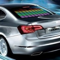 activated carbon fiber - 70 x cm Design Sound Rhythm Music Activated EL Equalizer Car decration Sticker Glow Flash Panel Multi Designs LED car Light
