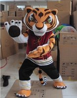Wholesale 2016 Cheap Kungfu Tiger Mascot Costume Kung Fu Tiger Mascot Costume Halloween Mascot Costume Adult Size Fancy Dress