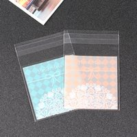 bakery foods - Factory direct bow trinkets sampler bags macarons bakery opp food bags x7cm x10cm