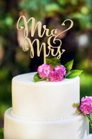 Wholesale Rustic wedding decoration wood Mr Mrs Cake Topper wooden letter village style wedding supplies