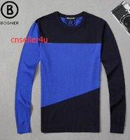 Wholesale Bogner sweater man M XL Aug men s commercial Thin Cotton Cashmere Wool Regular Pullo embroidery fashion Business Casual S XL