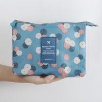 Wholesale 2016 New Fashion Women cute makeup bag cosmetic cases lady clutch Make up purse organizer mesh insert bag organiser Mini bag
