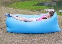 Wholesale Inflatable Air Sleeping Bag the popular hangout lazy sleeping air bags portable hangout air sofa